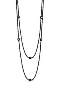 Pearl/Haematite Long Necklace