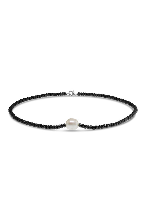 By Fairfax & Roberts Real Pearl And Haematite Short Necklace