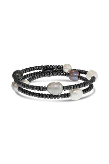 By Fairfax & Roberts Pearl & Haematite Bracelet