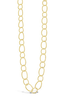Contemporary Open Link Long Necklace