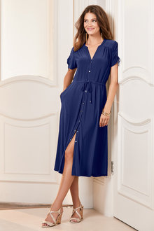 European Collection Jersey Shirt Dress - 235708