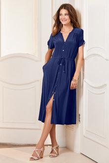European Collection Jersey Shirt Dress - 235708