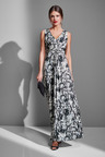 European Collection Printed Maxi Dress