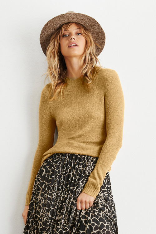 Emerge Textured Crew Neck Sweater