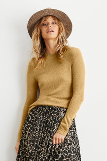 Emerge Textured Crew Neck Sweater - 235715