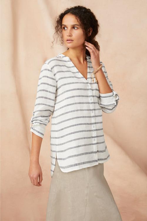 Capture Linen Stripe Shirt