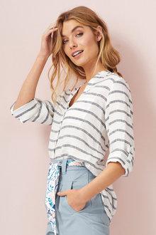 Capture Linen Stripe Shirt - 235717