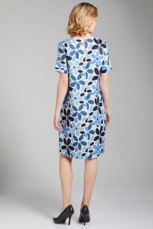 Capture Linen V Neck Shift Dress