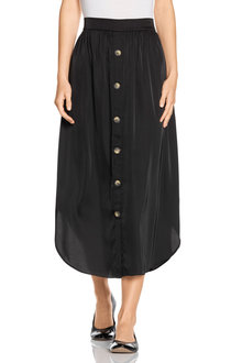 Capture Button Front Midi Skirt