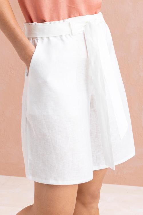 Capture Linen Tie Waist Shorts