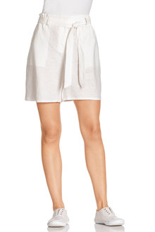 Capture Linen Tie Waist Shorts - 235730
