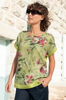 Capture Linen Floral Top