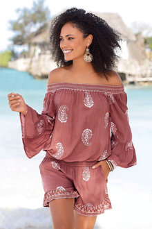 Urban Off the Shoulder Playsuit - 235752