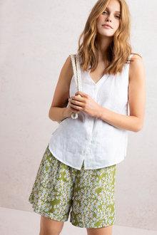 Emerge Paperbag Waist Tie Shorts - 235774