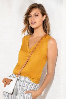 Emerge Linen Sleeveless Shirt - 235778