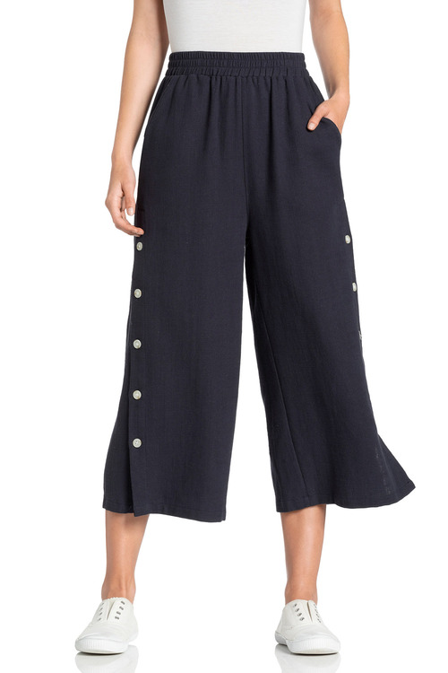 Emerge Linen Button Detail Culotte