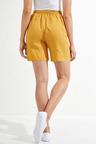 Emerge Linen Blend Seam Detail Shorts