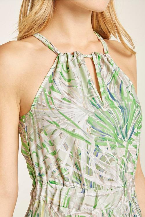 Heine Printed Halter Neck Maxi Dress