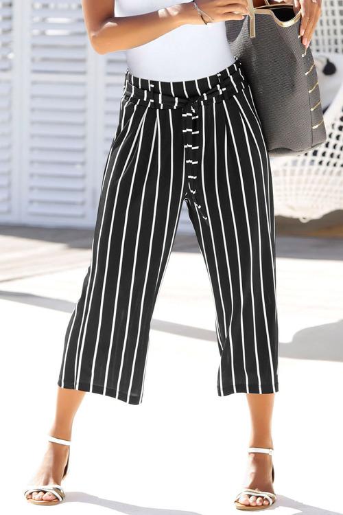 Urban Striped Culottes