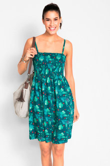 Urban Shirred Sun Dress - 235830