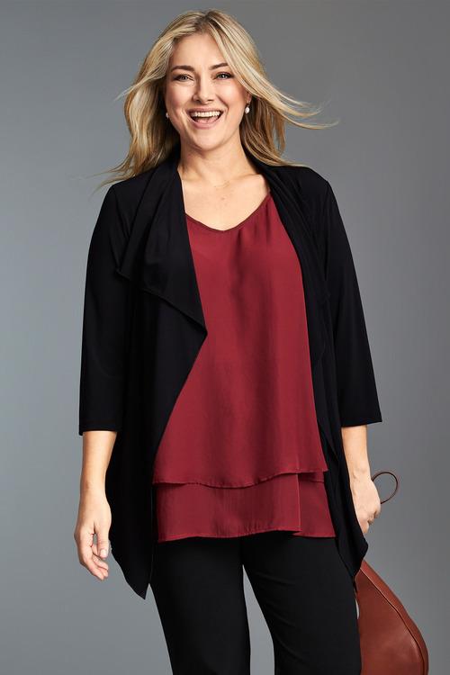 Plus Size - Sara Dry Knit Jacket
