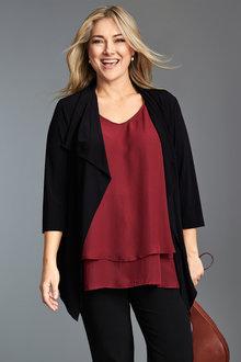 Plus Size - Sara Dry Knit Jacket - 235870