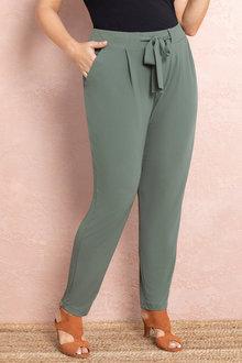 Plus Size - Sara Tie Waist Joggers - 235871