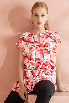 Grace Hill Pleat Front Shell Top