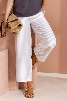 Grace Hill Linen Blend Crop Pants
