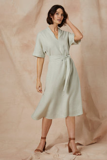 Grace Hill Linen Swing Dress - 235884