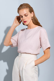 Grace Hill Linen Shell Top - 235885