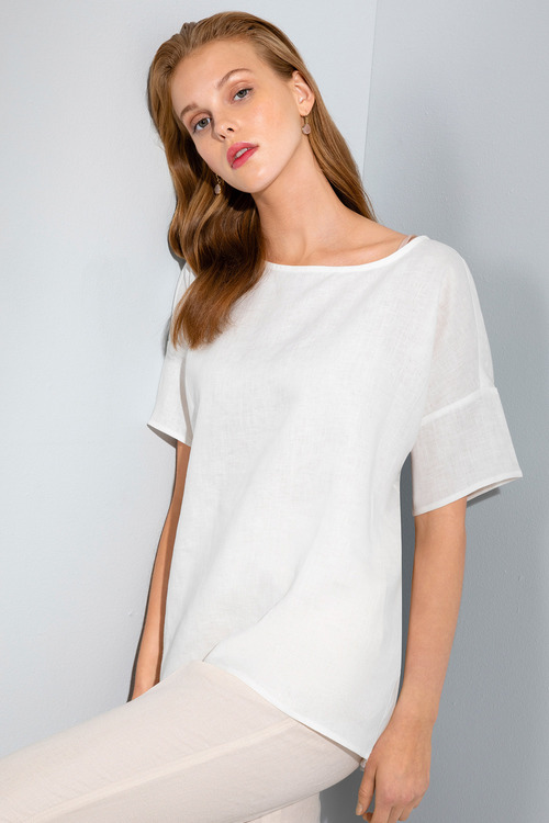 Grace Hill Linen Shell Top