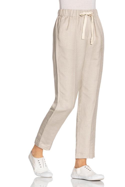 Grace Hill Linen Blend Seam Front Pants