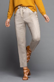 Grace Hill Linen Blend Seam Front Pants - 235887