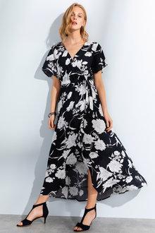 Grace Hill Wrap Midi Dress