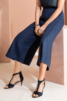 Grace Hill Linen Wide Leg Crop