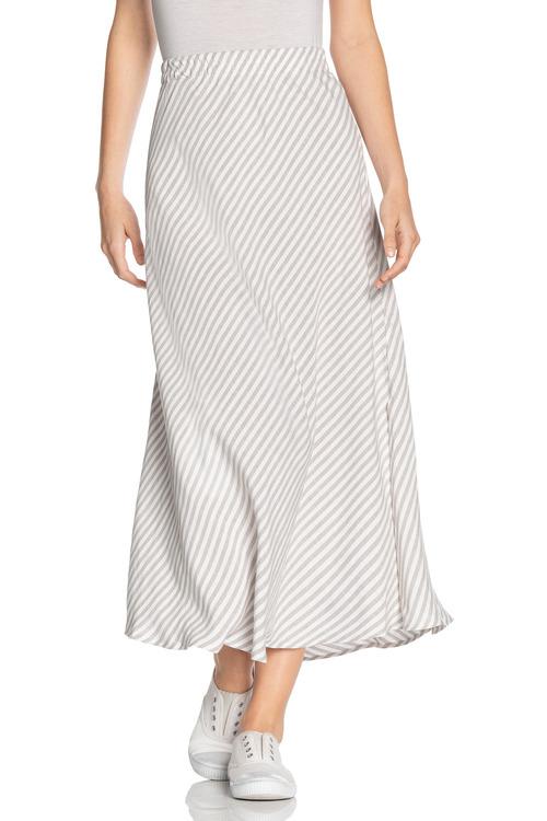 Grace Hill Linen Blend Midi Skirt