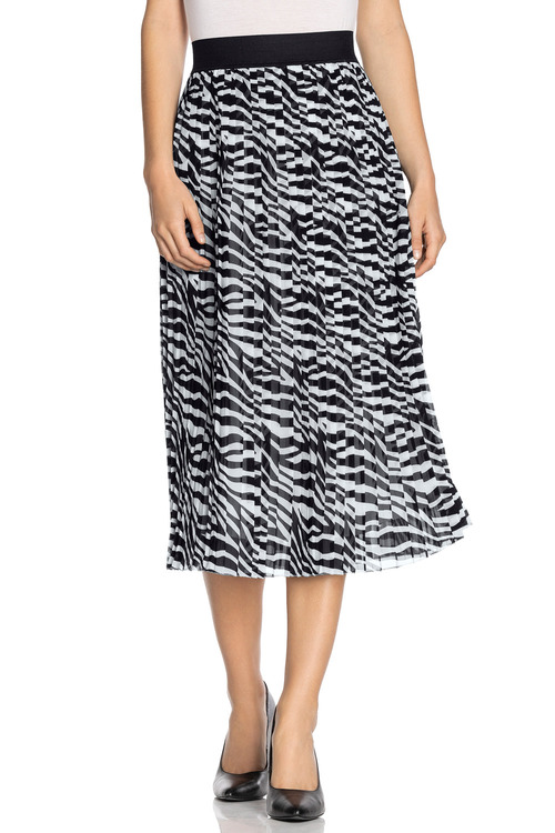 Emerge Printed Pleat Skirt