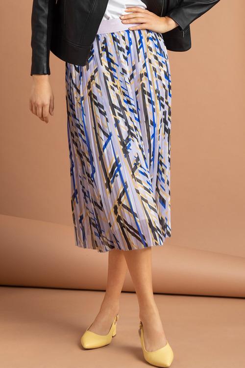 Emerge Printed Pleat Skirt