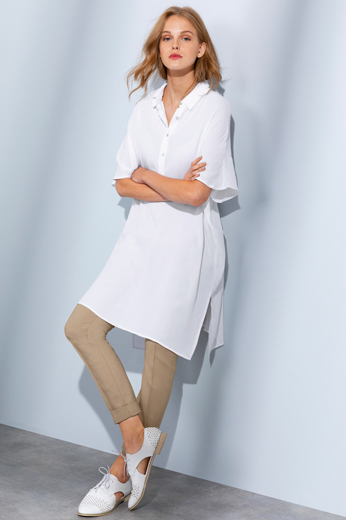 Grace Hill Half Placket Longline Tunic