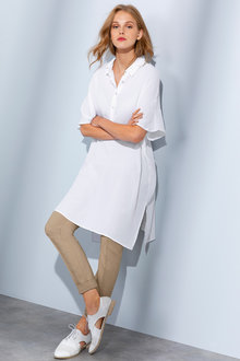 Grace Hill Half Placket Longline Tunic - 235909