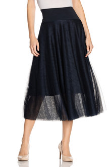 Grace Hill Knit Waistband Tulle Skirt