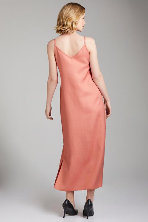 Grace Hill Linen Blend Slip Dress