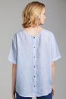 Grace Hill Linen Button Back Top