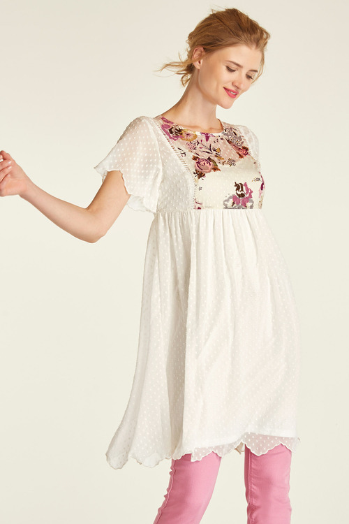 Heine Embroidered Dobby Dress