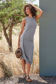 Heine Draped Hem Jersey Dress - 235921