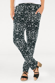 Heine Printed Drawstring Pants - 235922