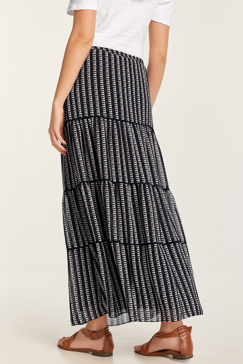 Heine Printed Tiered Skirt