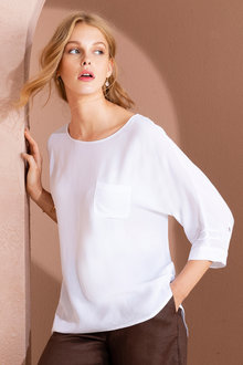 Grace Hill Pintuck Sleeve Detail Top