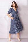 Capture Mock Wrap Dress